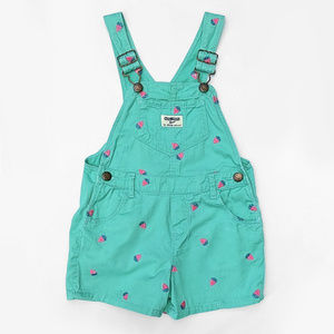 OshKosh BGosh Strawberry Schiffli Twill Shortalls